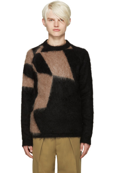 Kolor - Black & Tan Mohair Sweater