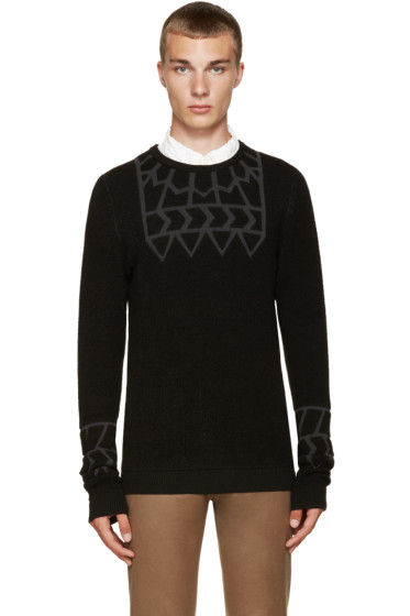 Kolor - Black Embossed Sweater