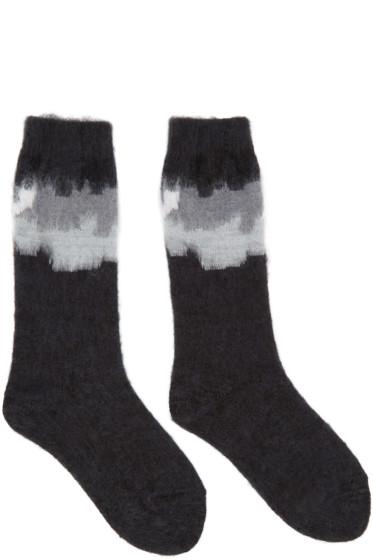 Facetasm - Black Intarsia Socks