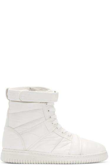 Christian Peau - White CP MT Zip High-Top Sneakers