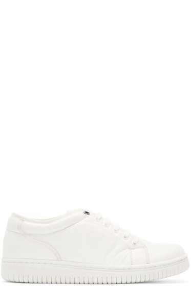 Christian Peau - White Leather CP Low-Cut Sneakers