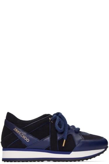 Jimmy Choo - Navy Felted London Sneakers