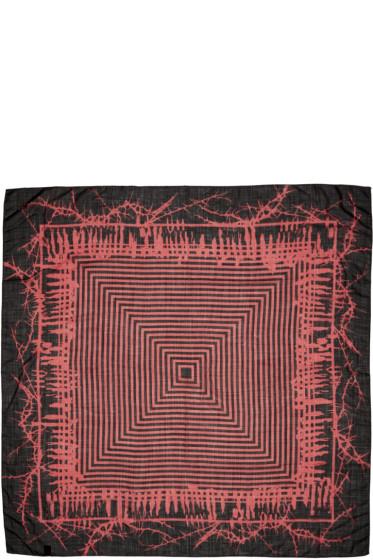Haider Ackermann - Black & Red Patterned Scarf