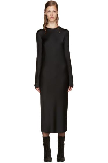 Haider Ackermann - Black Satin Dress