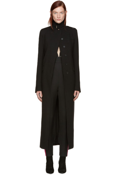 Haider Ackermann - Black Long Military Coat