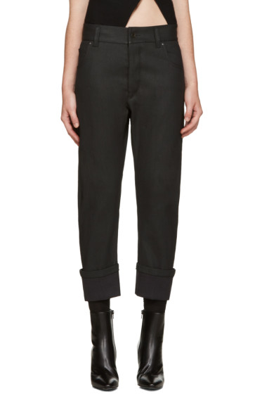 Haider Ackermann - Black Asymmetric Pocket Jeans