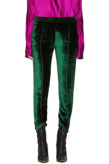 Haider Ackermann - Green Velvet Trousers