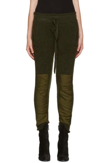 Haider Ackermann - Green Mohair Lounge Pants