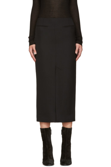Haider Ackermann - Black Wool Pencil Skirt