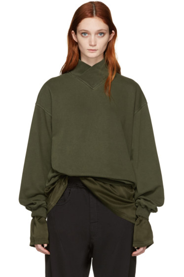 Haider Ackermann - Green Mock Neck Pullover