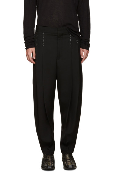 Haider Ackermann - Black Topstitched Orbai Trousers