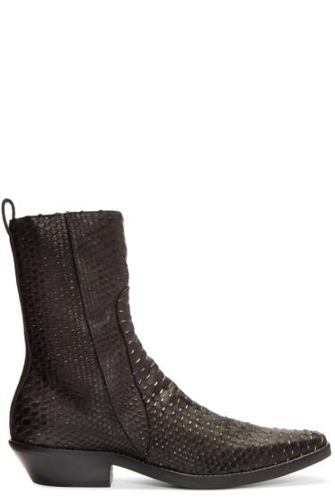 Haider Ackermann - Black Python Boots