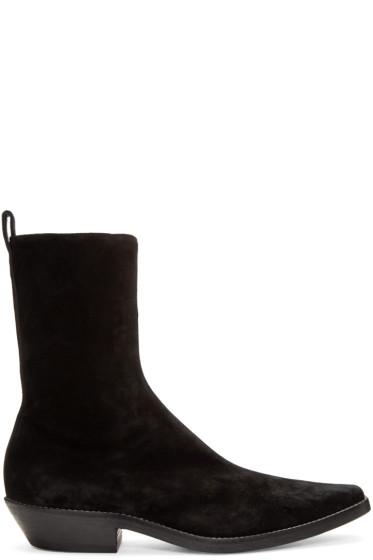 Haider Ackermann - Black Suede Boots
