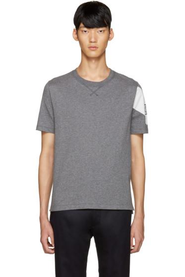 Moncler Gamme Bleu - Grey Detailed Sleeve T-Shirt