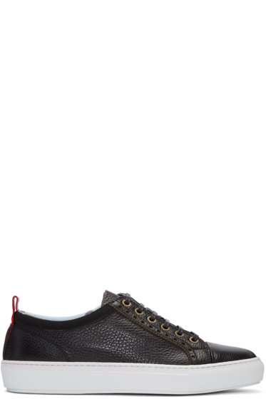 Moncler Gamme Bleu - Black Leather Sneakers