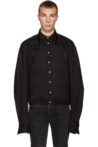 Hood by Air - Black Puff Apron Shirt
