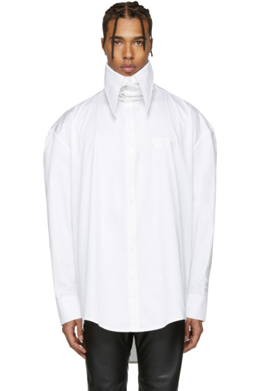 Hood by Air - White Poplin Pilgrim Shirt