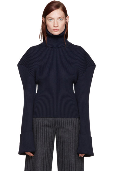 Jacquemus - Navy Giant Shoulder Turtleneck