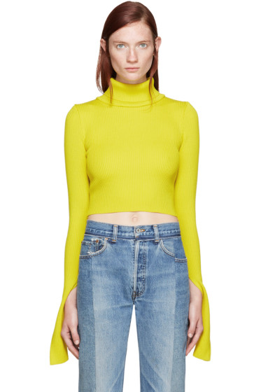 Jacquemus - Yellow Cropped Turtleneck