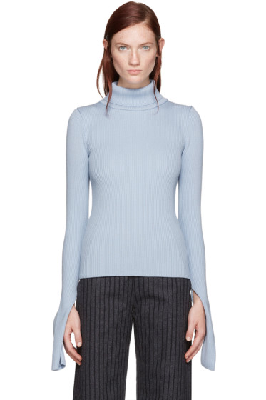 Jacquemus - Blue Ribbed Turtleneck