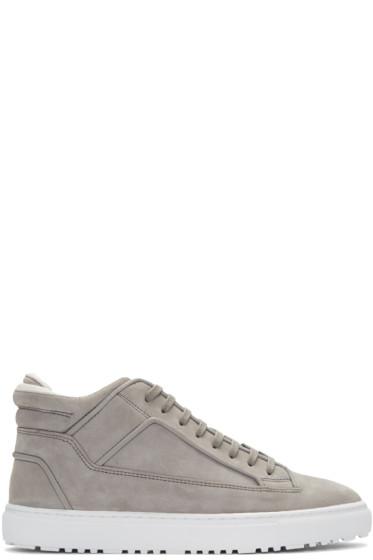 ETQ Amsterdam - Grey Suede Mid 2 Sneakers