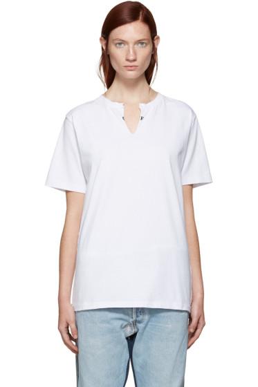 Off-White - SSENSE Exclusive White Crew Cut T-Shirt