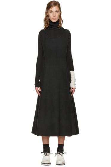 Yohji Yamamoto - Black Double-Face Wool Dress