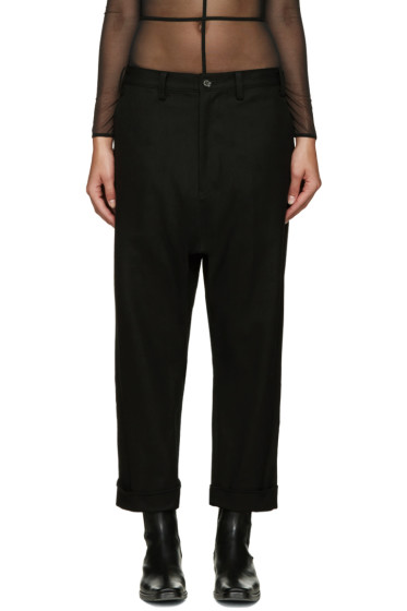 Yohji Yamamoto - Black Roll-Up Trousers