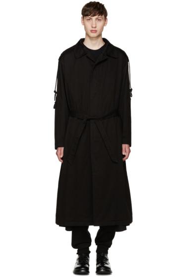 Yohji Yamamoto - Black Hooded Trench Coat