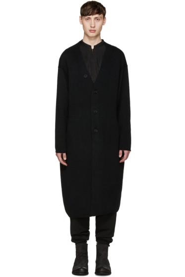 Yohji Yamamoto - Black Oversized Face Cardigan