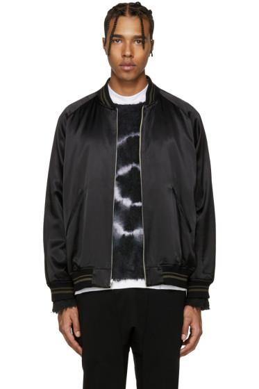Lad Musician - Reversible Black Souvenir Bomber Jacket