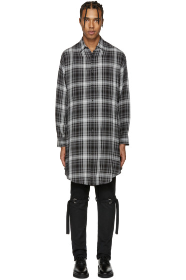Lad Musician - Black Long Check Shirt