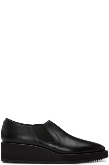Lad Musician - Black Leather Slip-On Shoes