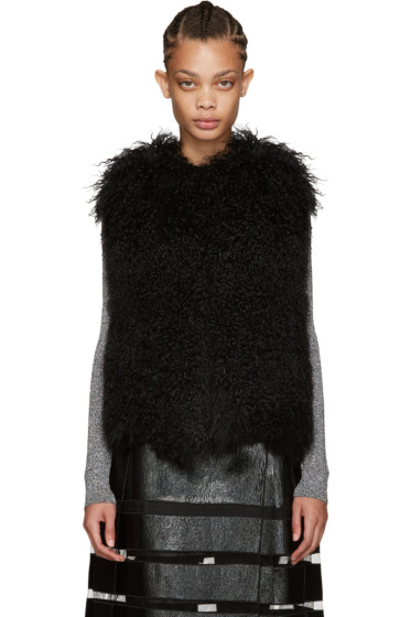 Yves Salomon - Black Lamb Fur Vest
