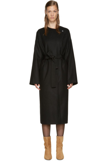 Isabel Marant - Black Cashmere Oversized Coat