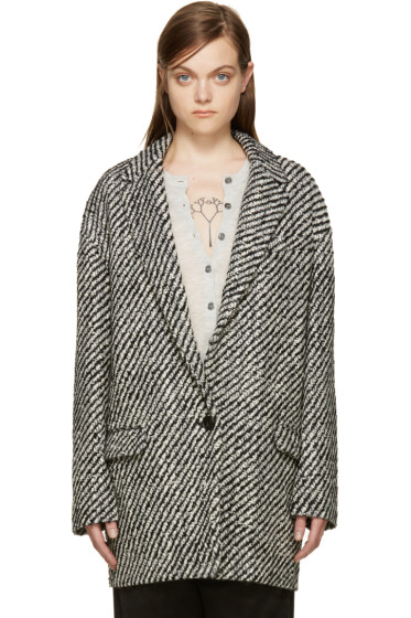 Isabel Marant - Black & White Ilaria Coat