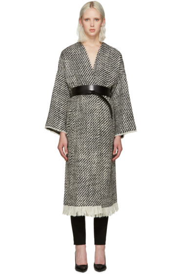 Isabel Marant - Black & White Iban Coat