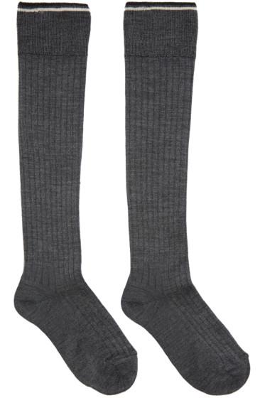 Isabel Marant - Grey Silk Zina Socks