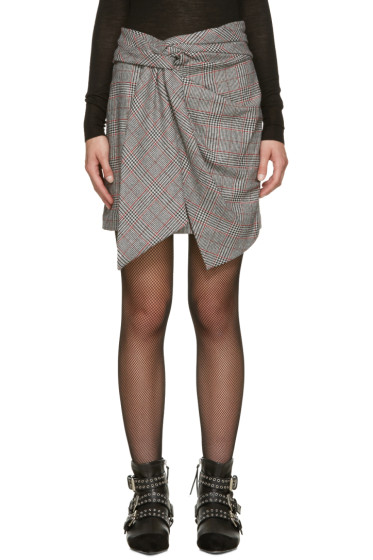 Isabel Marant - Black Houndstooth Kim Miniskirt