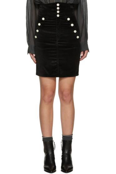 Isabel Marant - Black Velvet Nelly Miniskirt