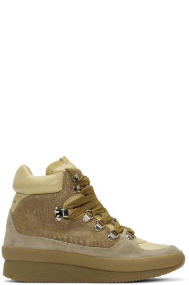 Isabel Marant - Beige Brent Hiking Boots