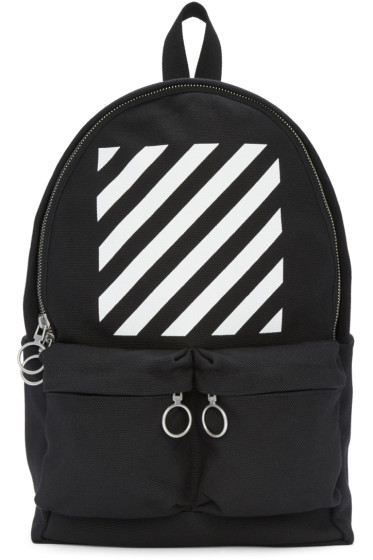 Off-White - Black & White Diagonals Backpack