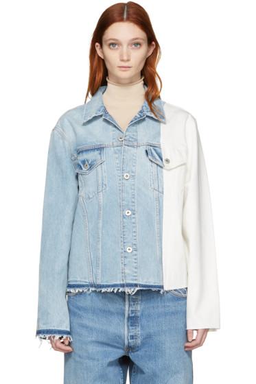 Off-White - Blue & White Denim Splice Jacket