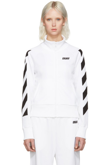 Off-White - White Sporty Logo Zip-Up