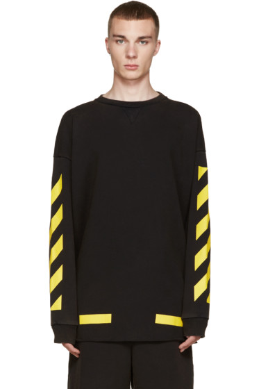 Off-White - Black & Yellow Arrows Pullover