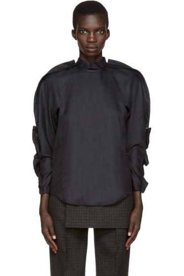 Toga - Black Basketwoven Blouse