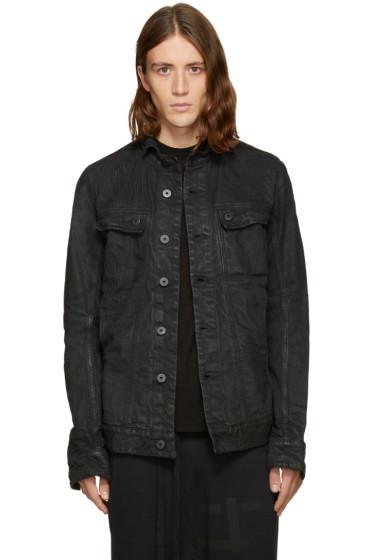 11 by Boris Bidjan Saberi - Black Embroidered Denim Jacket