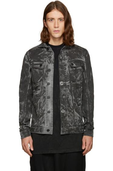 11 by Boris Bidjan Saberi - Black Camo Wash Denim Jacket