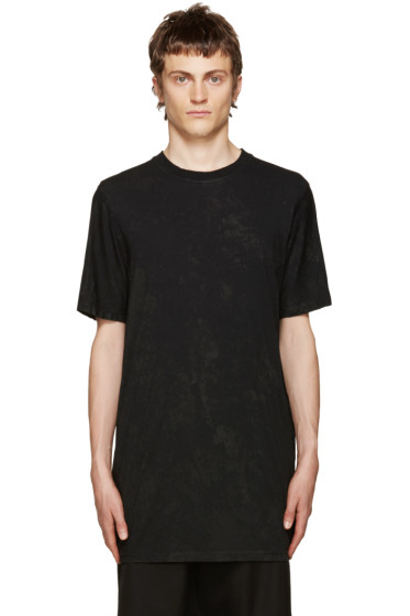11 by Boris Bidjan Saberi - Black Basic Coated T-Shirt