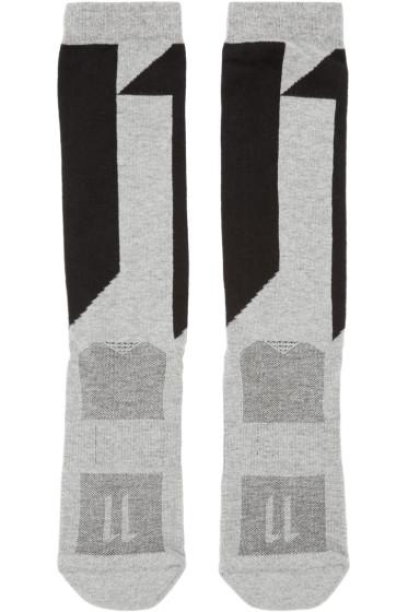 11 by Boris Bidjan Saberi - Grey Logo Socks